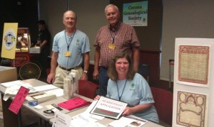 Corona Genealogical Society Table, Book-a-Palooza 2012